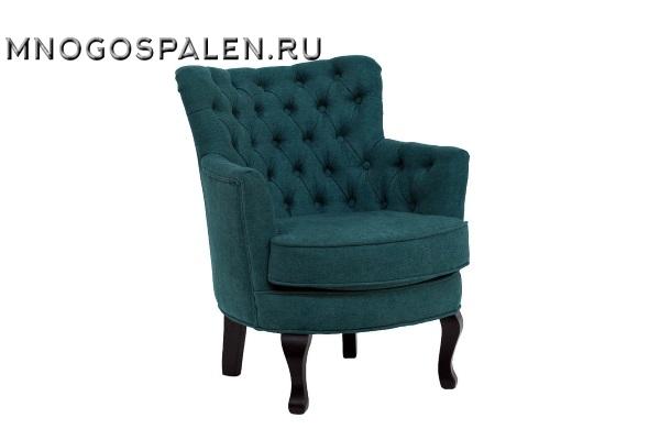 Кресло велюровое тёмно-бирюзовое PJC741-PJ618 купить в салоне-студии мебели Барселона mnogospalen.ru много спален мебель Италии классические современные